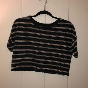 Stripped Crop T-shirt